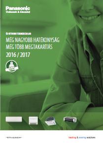 PANASONIC klíma 2016 magyar nyelvű katalógus