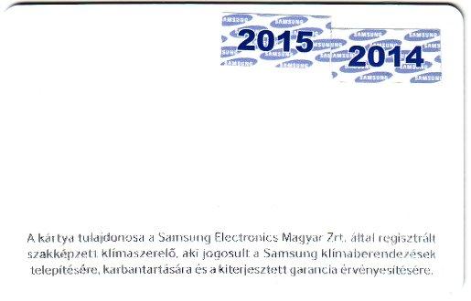 Samsung regisztr�lt kl�ma szerel� k�rtya