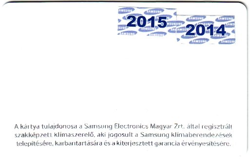 Samsung regisztr�lt kl�ma jav�t� k�rtya